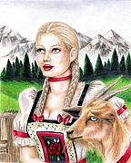 The Hills Drawings - Goat Girl by Scarlett Royal