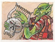 Goblin Paintings - Goblin lyre by Russell Horsfield