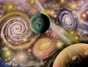 Cosmology Paintings - God 101 revised by Sam Del Russi