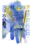 Word Paintings - God at Work by Judy Dodds
