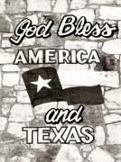 God Bless America Posters - God Bless America and Texas Poster by Marilyn Hunt