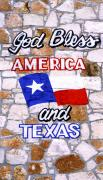 God Bless America Prints - God Bless Amreica and Texas 3 Print by Marilyn Hunt