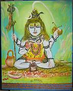 Mahadeva Prints - God Chandra Mauli Print by M bhatt