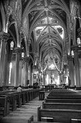 Basillica Framed Prints - God Do You Hear Me Black and White Framed Print by Ken Smith