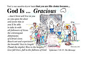Baseball Drawings - God Is Gracious by George Richardson