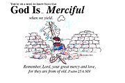 Merciful Framed Prints - God is Merciful Framed Print by George Richardson