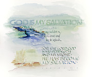Be Not Afraid Framed Prints - God is My Salvation Framed Print by Judy Dodds