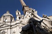 God Of The River Ganges. Fontana Dei Quattro Fiumi. Piazza Navona. Rome Print by Bernard Jaubert