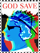 London England  Mixed Media - God Save... by Zbigniew Rusin