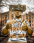 Queensbridge Prints - GOD Walk On Water Print by Tuan HollaBack