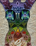 Spiritual Art Reliefs - Godbody by Arla Patch