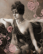 1920s Mixed Media - Goddess by Chris Andruskiewicz