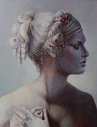 Greek Sculpture Painting Metal Prints - Goddess Detail Metal Print by Geraldine Arata