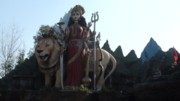 Goddess Durga Photos - Goddess DURGA by Lalitmohan Khungar