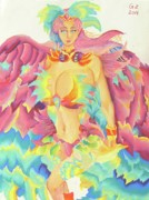 Legend  Pastels - Goddess Of Creation by George Zhang