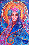 Angelic. Symbolism Prints - Goddess Shakti Creates Print by Justine Aldersey-Williams