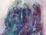 Contemplative Mixed Media - Goddesses by Adele Greenfield