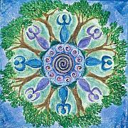 Goddesses Dancing Print by Charlotte Backman