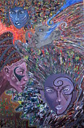 Outsider Art Mixed Media - Goddesses by Gregory Theobal