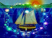 Tall Ship Prints - Godess Of The Sea Print by Madeline  Allen - SmudgeArt