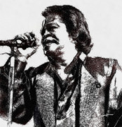 James Brown Prints - Godfather of Soul Print by Anthony Caruso