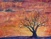 Silhouette Painting Originals - Gods Family Tree by Arlissa Vaughn