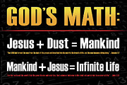 Integration Posters - Gods Math Poster by Shevon Johnson