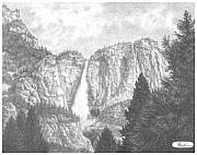 Yosemite Drawings - Gods Wonder Yosemite by Suzanne Reh-Faraca