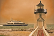 Godspeed At Brant Point Nantucket Island Print by Jack Torcello