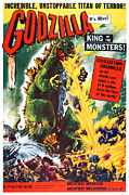 1950s Movies Art - Godzilla, King Of The Monsters, Aka by Everett