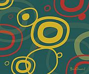 Abstract Posters - Gogo - Retro-Modern Abstract Poster by Bill ONeil