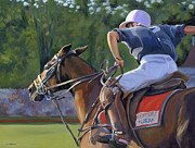 Polo Paintings - Goin for It by Alecia Underhill
