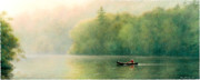Canoe Painting Posters - Goin With The Flow Poster by Ken Johnston