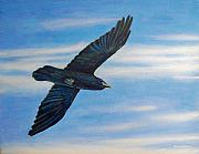 Flying Bird Paintings - Going Home by Brian  Commerford