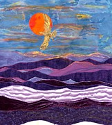 Flying Tapestries - Textiles - Going Home by Maureen Wartski