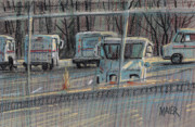 Truck Pastels Prints - Going Postal Print by Donald Maier