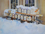 Boxes Paintings - Going Postal II by P Anthony Visco