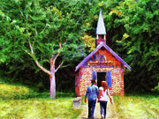 Contemporary Oil Paintings - Going to the Chapel by Jai Johnson