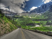Glacier National Park Posters - Going to the Sun Road- Glacier National Park Poster by Glenn Barclay