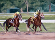 Equine Prints - Going to the Whip Print by Linda Tenukas