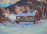 New England Village  Paintings - Going To Town by Len Stomski