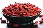 Spill Prints - Goji berries Print by Elena Elisseeva