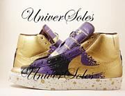 Nike Mixed Media - Gold and Purp ID Blazers by Joseph Boyd