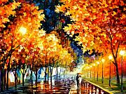 Afremov Art - Gold Boulevard by Leonid Afremov