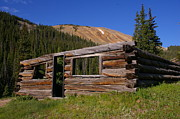 Log Cabins Photo Originals - Gold Brick Miner Cabin by Cynthia Cox Cottam