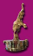 Gold Buggatti Mascot Print by Jack Pumphrey