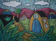 Oil Pastel Pastels - Gold Church by Karla Gerard