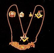 Blue Jewelry - Gold Clad Masonic Jewelry by Hal Sharpe