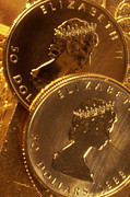 Coin Prints - Gold Coins Print by Lyle Leduc