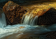 Water Photographs Posters - Gold Creek Poster by Tim Reaves